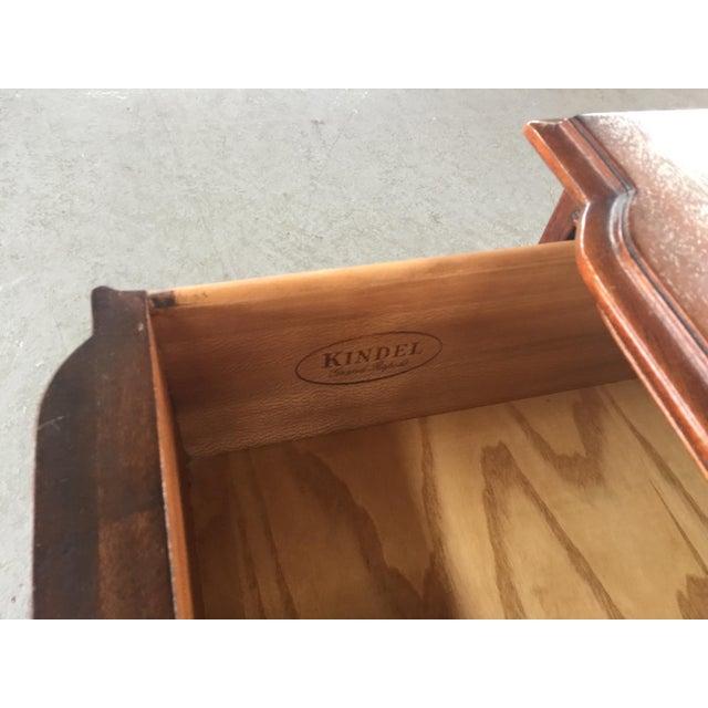 1990s Kindle Chippendale Walnut Triple Dresser For Sale - Image 5 of 10