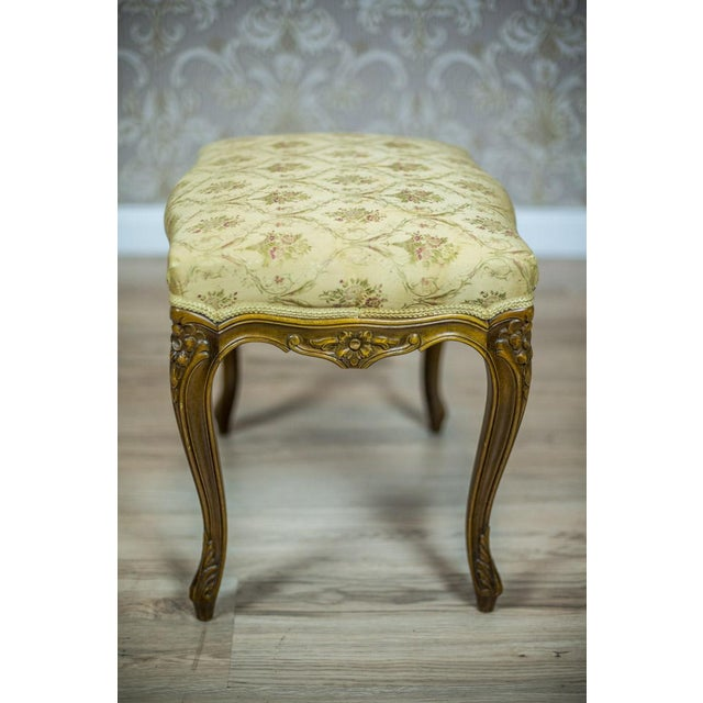 Wooden, Upholstered Stool in the Rococo Type, circa 1950s-1960s For Sale - Image 4 of 8
