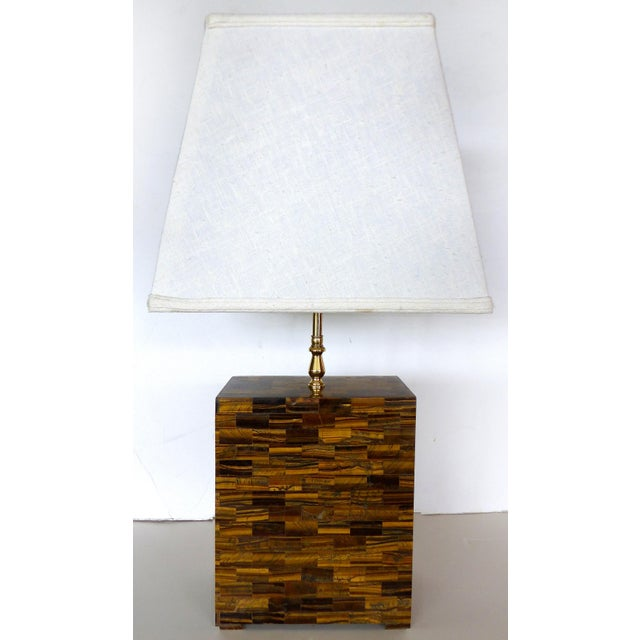 Tessellated Tigers Eye Table Lamps - A Pair - Image 10 of 10