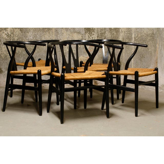 Han Wegner Wishbone Chairs- Set of 6 For Sale In New York - Image 6 of 6