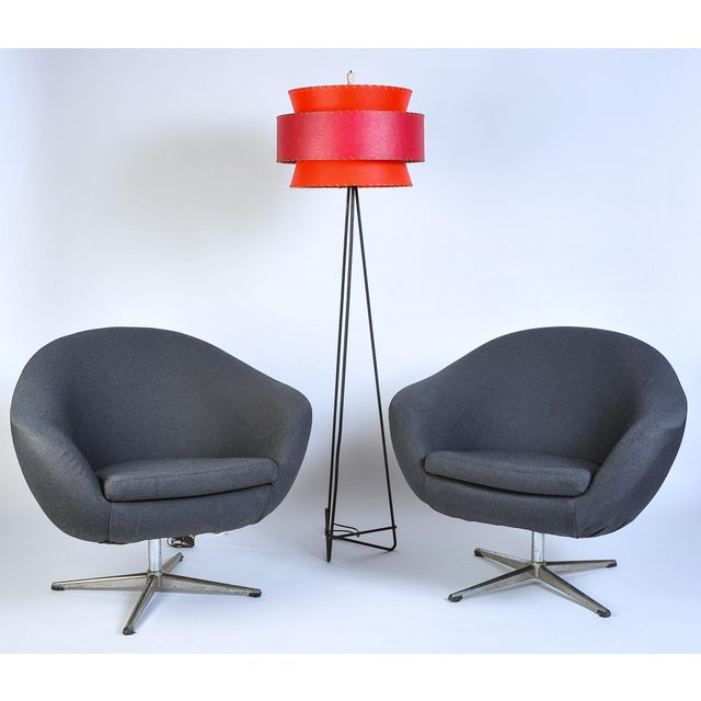 Overman Sweden Overman Pod Swivel Chairs - A Pair For Sale - Image 4 of 8