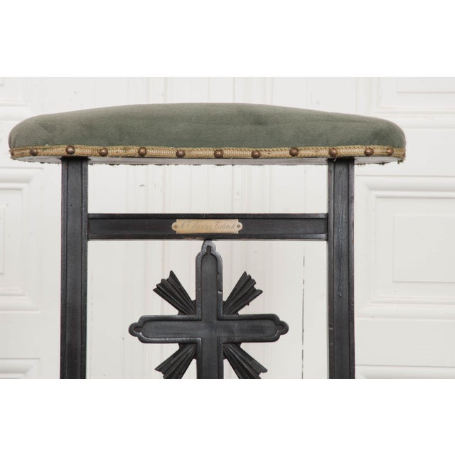 Aesthetic Movement French 19th Century Upholstered and Ebonized Prie Dieu For Sale - Image 3 of 13