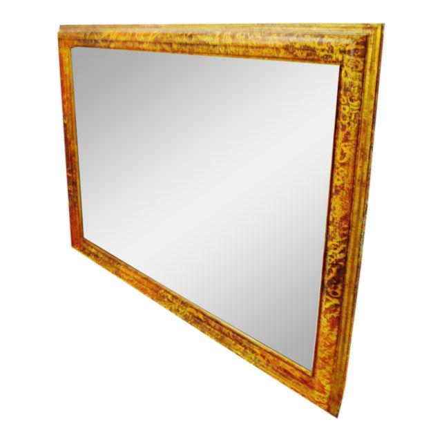 Vintage Mottled Paint Framed Mirror - Image 1 of 10