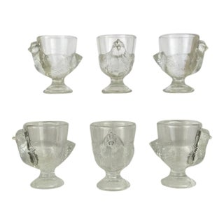 Late 20th Century Vintage French Egg Cups - Set of 6 For Sale