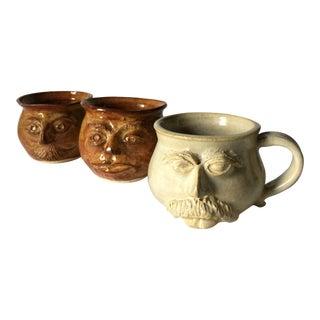 Man Face Mugs - Set of 3