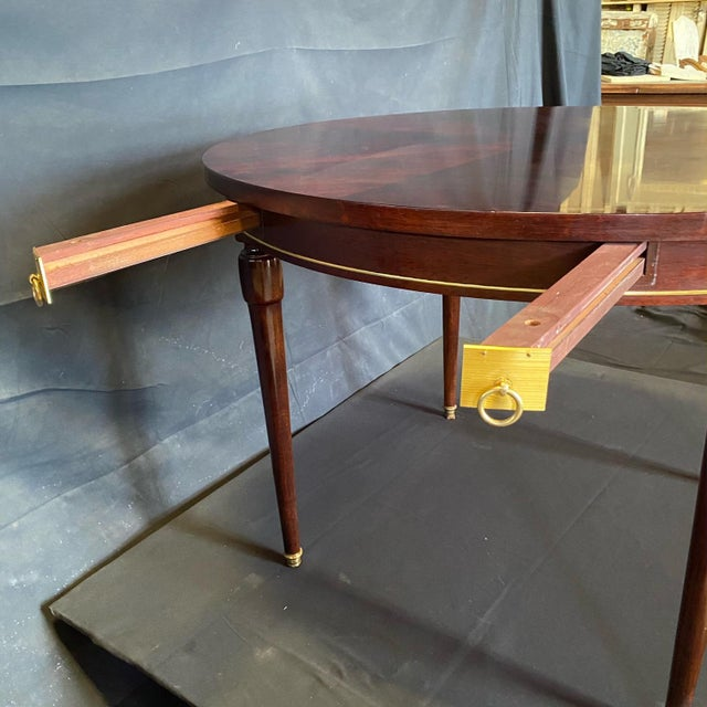 1920s French Neoclassical Empire Style Round Side Table Dining Table For Sale - Image 5 of 10