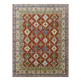 Afghan Kazak Wool Rug - 8′3″ × 10′ For Sale