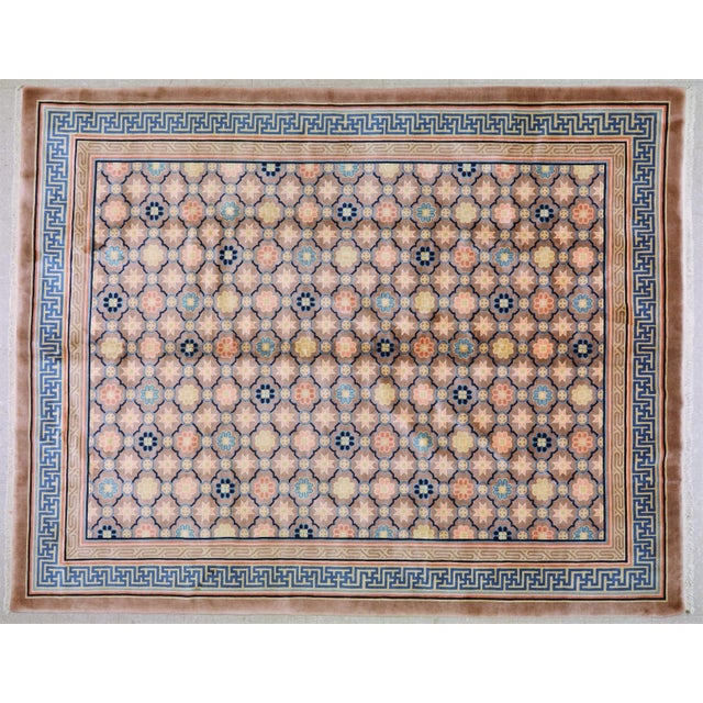 """Textile Antique Chinese Rug,8'x10'1"""" For Sale - Image 7 of 7"""