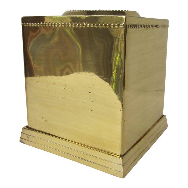 Brass Tissue Box Holder For Sale