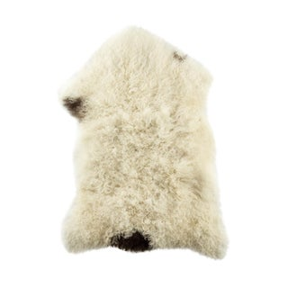 "Contemporary Long Soft Wool Sheepskin Pelt - 2'2""x3'0"" For Sale"