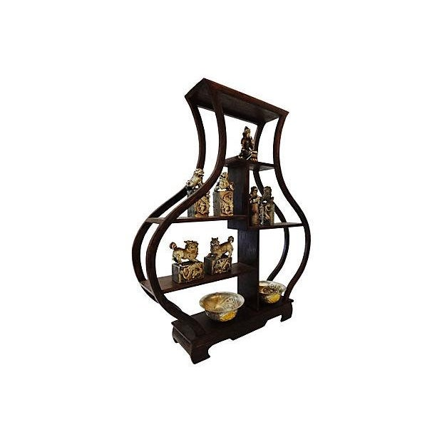 10-Piece Miniature Wood Stand & Decor Set - Image 2 of 7