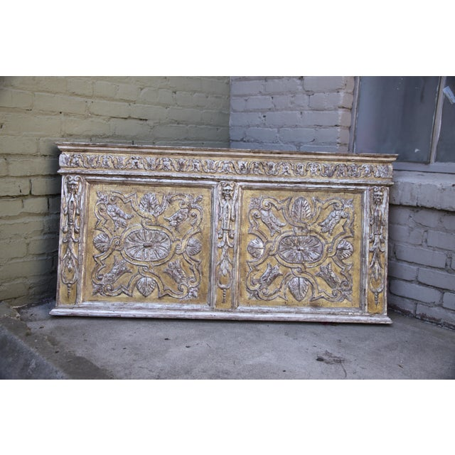 19th century intricately carved Italian silver and gold leaf panel.