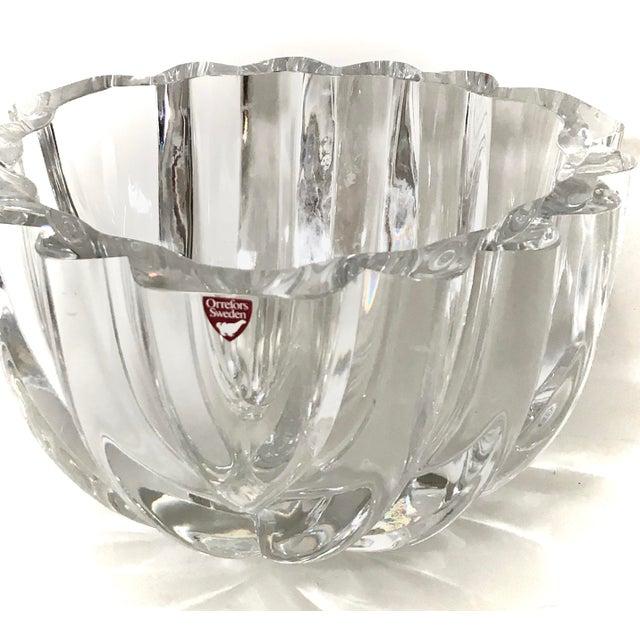 1970s Orrefors Swedish Signed Crystal Isabella Bowl For Sale - Image 11 of 12