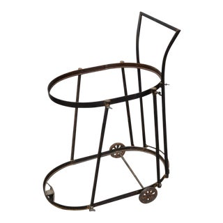 1960s Industrial Two-Tier Bar Cart For Sale