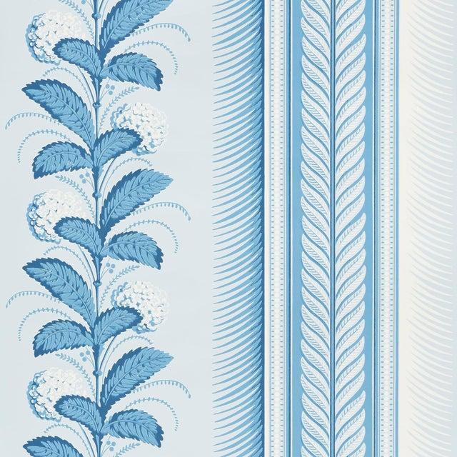 Schumacher Hydrangea Drape Wallpaper in Delft For Sale