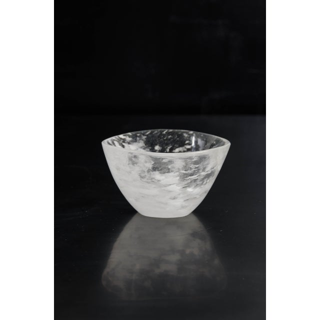 Ghen bowl Crystal Hand carved Crystal inclusions vary Limited edition Contemporary Each piece is individually crafted and...