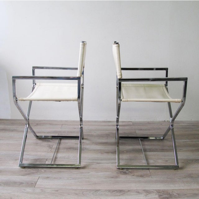 Chrome Director's Chairs - A Pair - Image 4 of 7