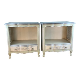 1960s Vintage John Widdicomb Painted Nightstands - A Pair For Sale