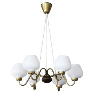Danish Modern 6-Arm Chandelier For Sale