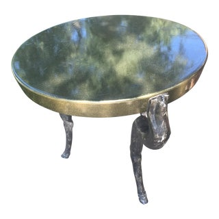 1970s Figurative Goat Legs Dining Table For Sale