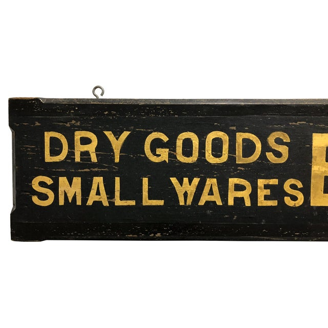Americana 1980s Long Wood Black Sand and Gilt 15' Trade Sign For Sale - Image 3 of 11
