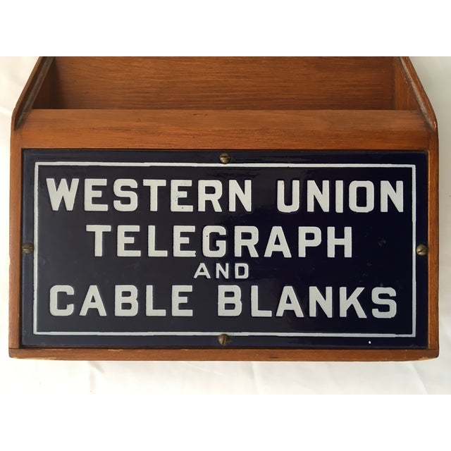 Early 20th Century Western Union Telegraph & Cable Blanks Box For Sale - Image 5 of 12