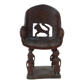 Early 20th Century African Chieftain Chair For Sale