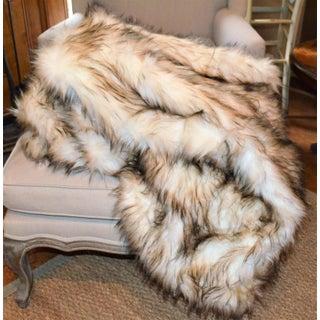 Wild Mannered Faux Fur Bleached Finn Throw Preview