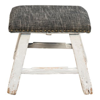 Modern Sarreid Limited Antique Style Grey Stool
