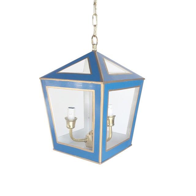 Dana Gibson Solid Navy Tucker Lantern - Image 1 of 2