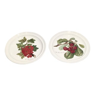 "Pomona Portmeirion ""The Goddess of Fruit"" Plates- Set of 2 For Sale"