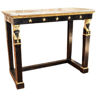 Early 19th Century Swedish Carved and Gilt Neoclassical Empire Console Table For Sale