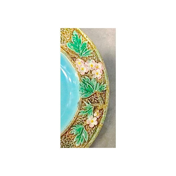 Antique George Jones Majolica Muffin Dish For Sale - Image 9 of 13