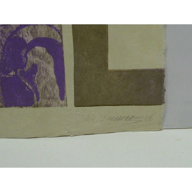 "1960s 1968 ""Starlett"" Signed Print For Sale - Image 5 of 6"