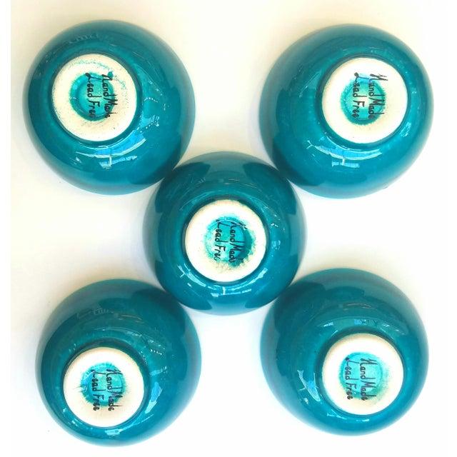 Turquoise Bowls - Set of 5 - Image 5 of 5