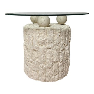 Postmodern Mactan Nature Stone Side Table For Sale