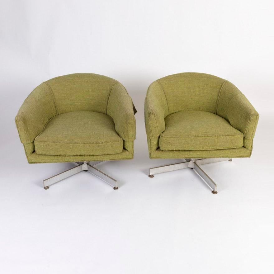 Milo Baughman For Thayer Coggin Tilt Swivel Club Chairs   A Pair   Image 2  Of