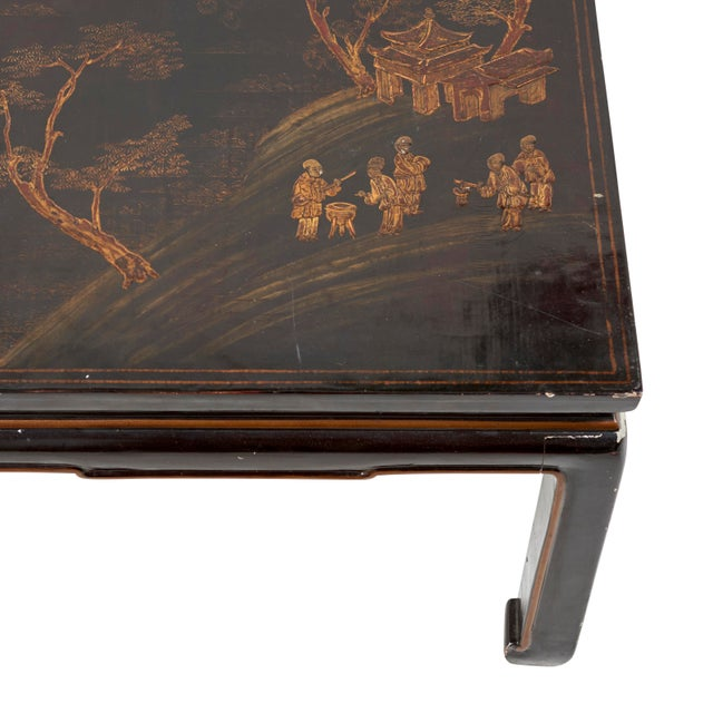 Schumacher Early 20th Century Chinese Lacquer Coffee Table For Sale - Image 4 of 8