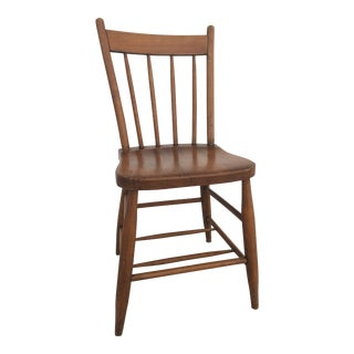 Early 20th Century Vintage Spindle Back Windsor Style Chair For Sale