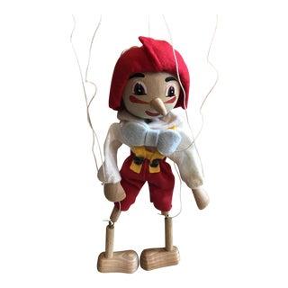 1940s Vintage Wood Marionette Pinocchio For Sale