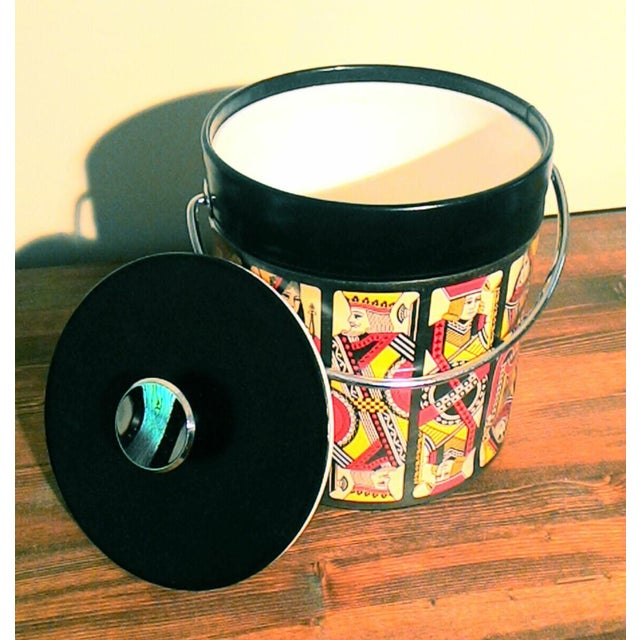 Mid-Century Card Theme Ice Bucket - Image 3 of 7
