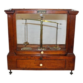 Cased Balance Scale By Henry Troemne For Sale