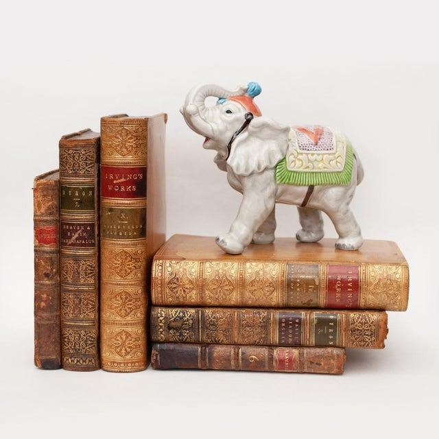 1983 Japanese Porcelain Circus Elephant Figurine or Bookend For Sale - Image 11 of 13