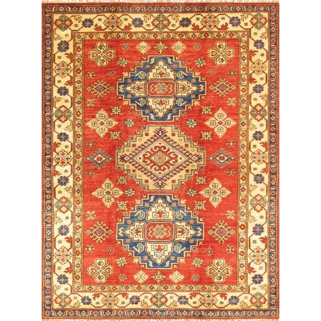 """Kazak Lamb's Wool Rug- 4'8"""" X 6'5"""" - Image 1 of 3"""