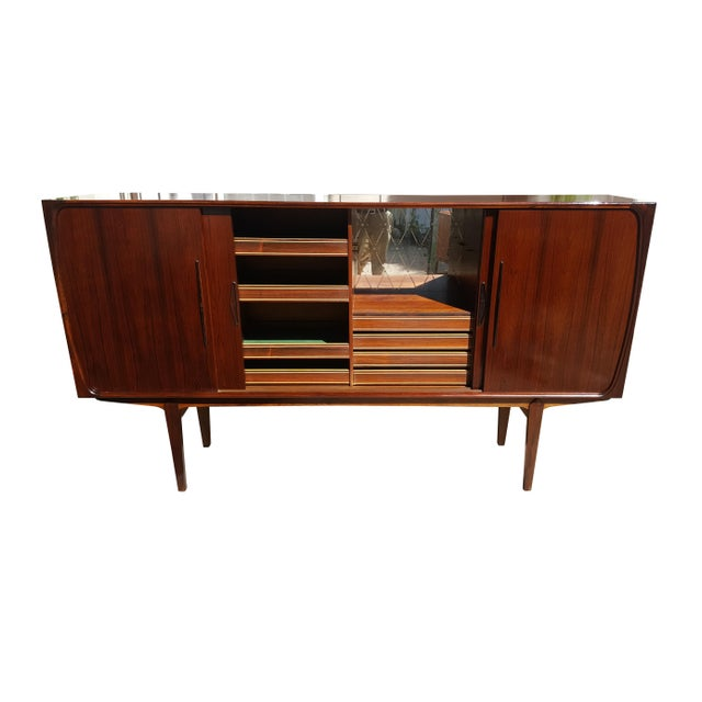 1970s 1960s Danish Modern Rosewood Credenza/Sideboard For Sale - Image 5 of 12