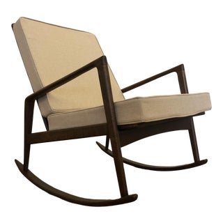 Italian Mid Century Rocking Chair For Sale