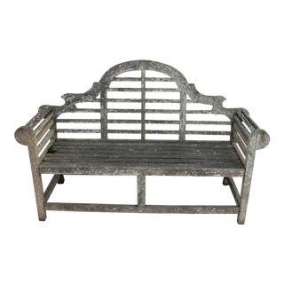 Early 20th Century Lutyens Style Teak Garden Bench For Sale
