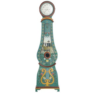 18th Century Swedish Blue Cast Iron Mora Clock