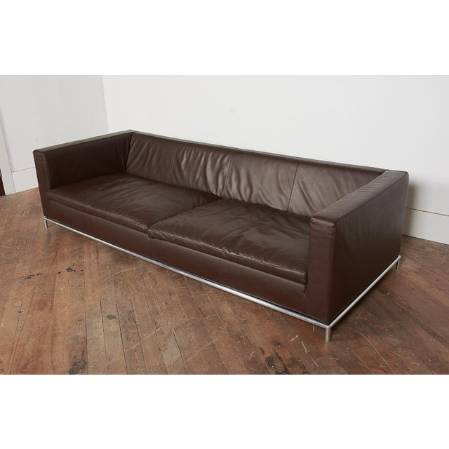 B&B Italia Contemporary Chocolate Brown Leather 'George' Sofa For Sale In Boston - Image 6 of 8