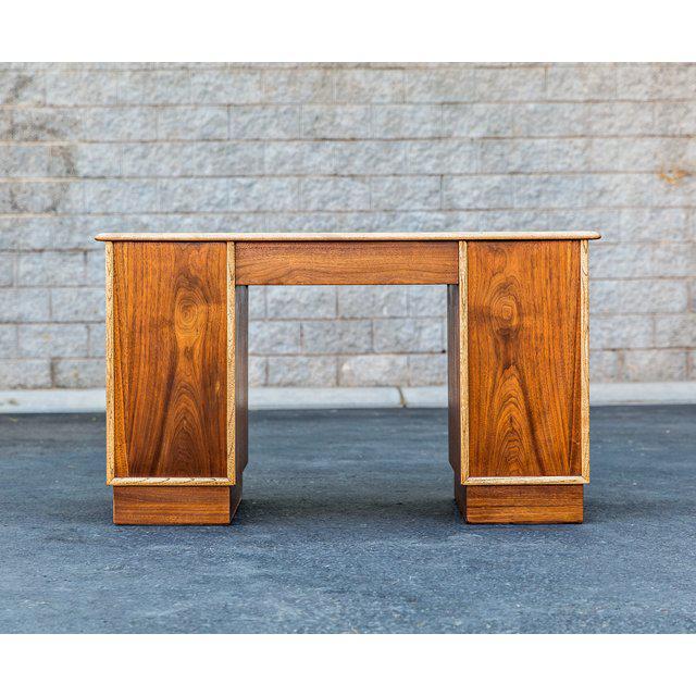 Lane Furniture Vintage Mid-Century Lane Furniture Perception Partner Desk For Sale - Image 4 of 8